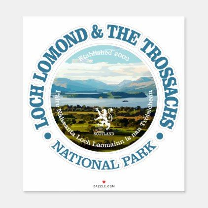 Loch Lomond & the Trossachs Sticker | Zazzle.com