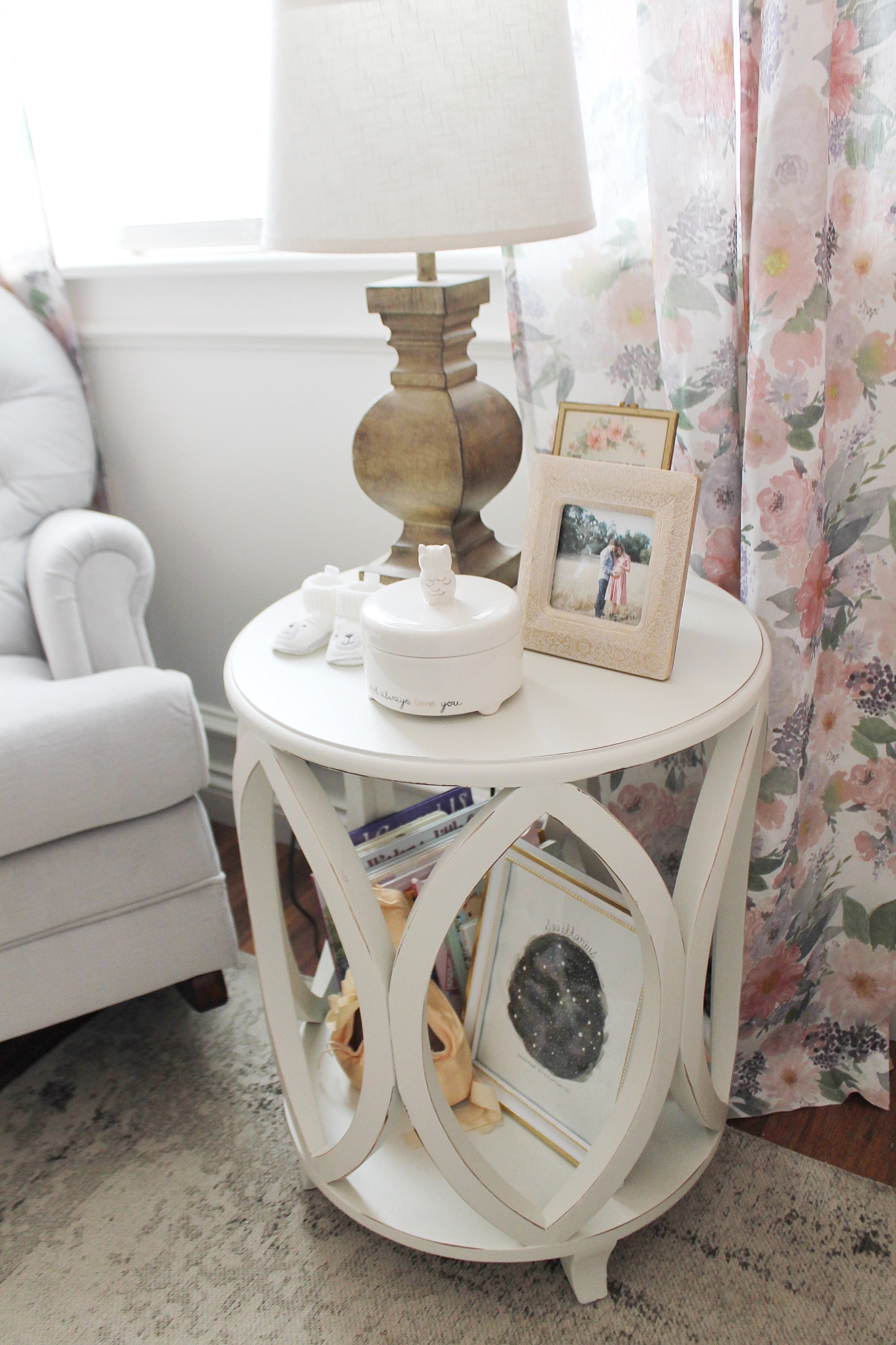 Every Mom Needs A Sturdy Side Table In Her Nursing Nook For All Her  Supplies.