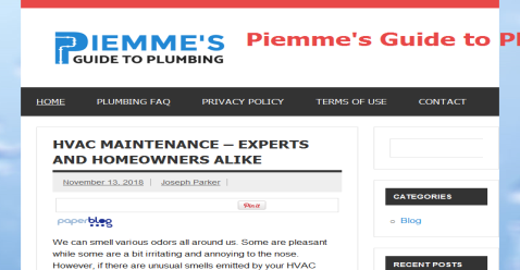 Piemme S Guide To Plumbing Plumbing Hvac Maintenance Heat Pump
