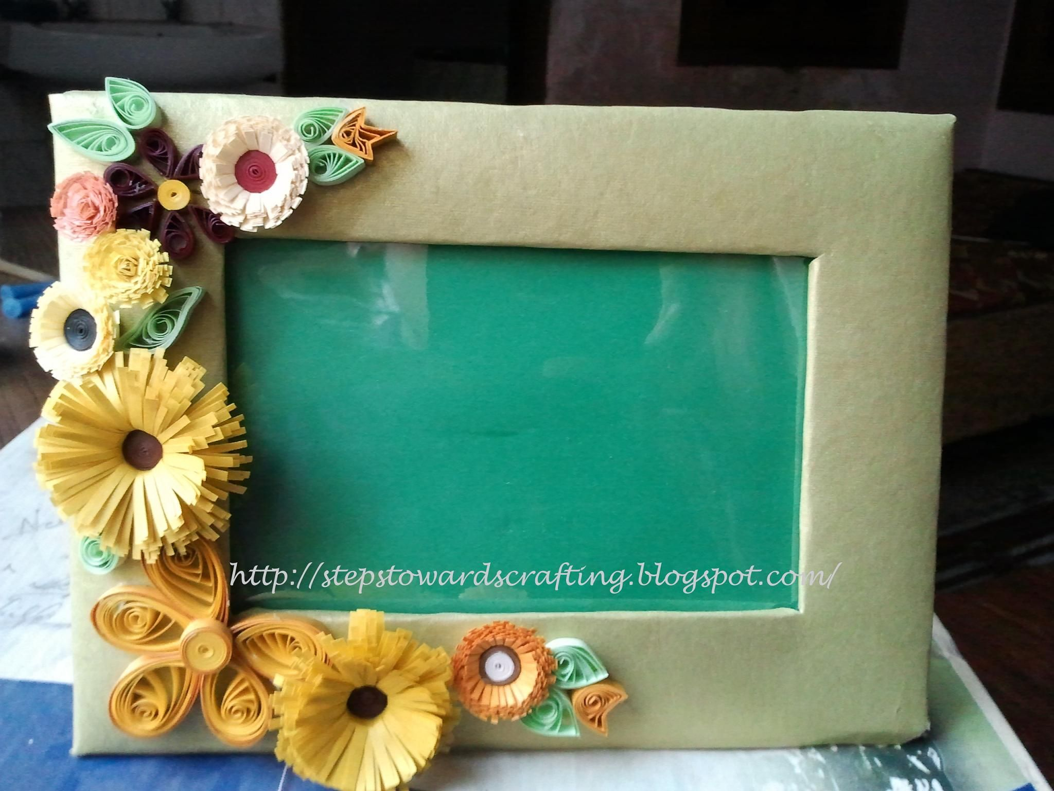 Cardboard Quilled photo frame 6 by 4