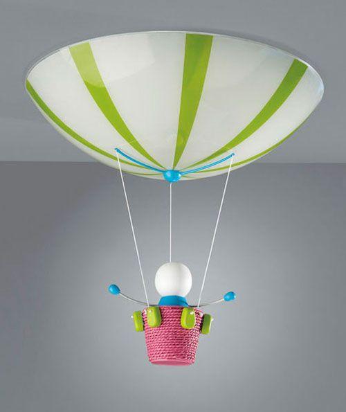 Lampadario a forma di mongolfiera per la cameretta di bambini   Idee  u0026 accessori   Pinterest -> Lampadario Cameretta Azzurro