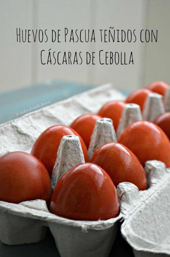 Dale un toque ecológico a tu celebración de Easter con éstos Huevos de Pascua teñidos con cascaras de cebolla