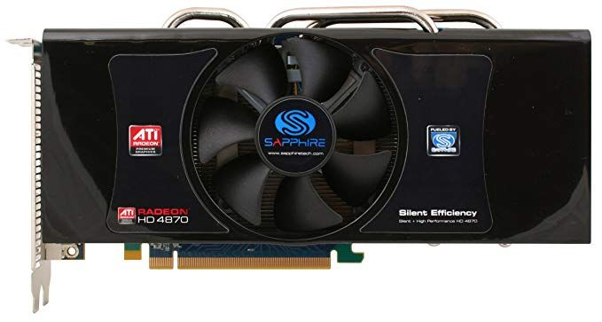 Sapphire Radeon Hd4870 512mb Ddr5 Dual Dvi Tvo Pci Express Graphics Card Review Graphic Card Dvi Computer Components