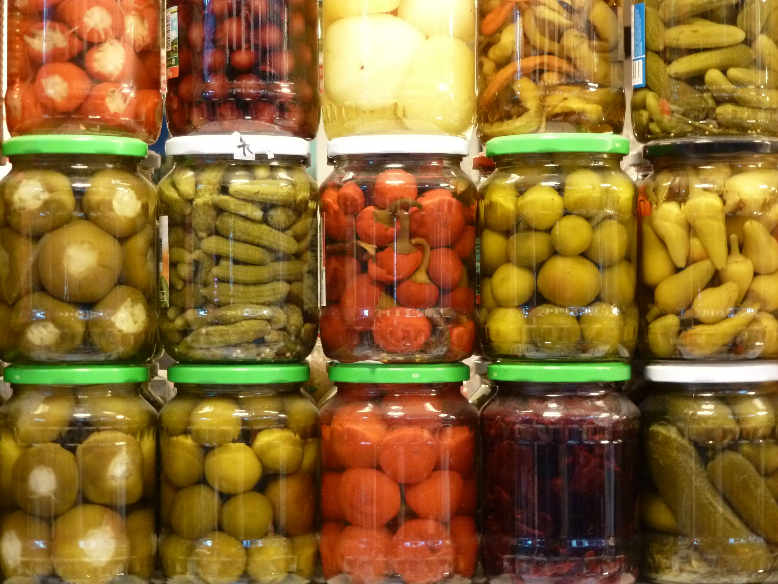 Pickled everything at the market in Budapest, Hungary