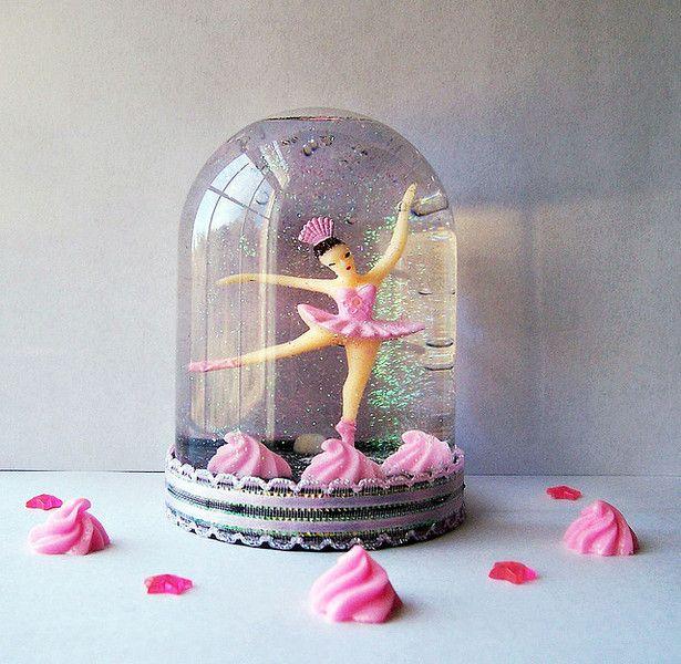 Diy Snowglobe Ballerina With Images Snow Globes Diy