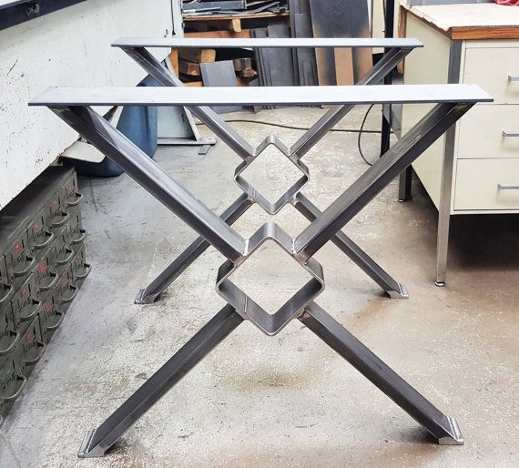 Modern Dining Table X Legs Model TT11 Industrial Legs en 2019  FORJA  Metal dining table Metal table legs y Dining table legs