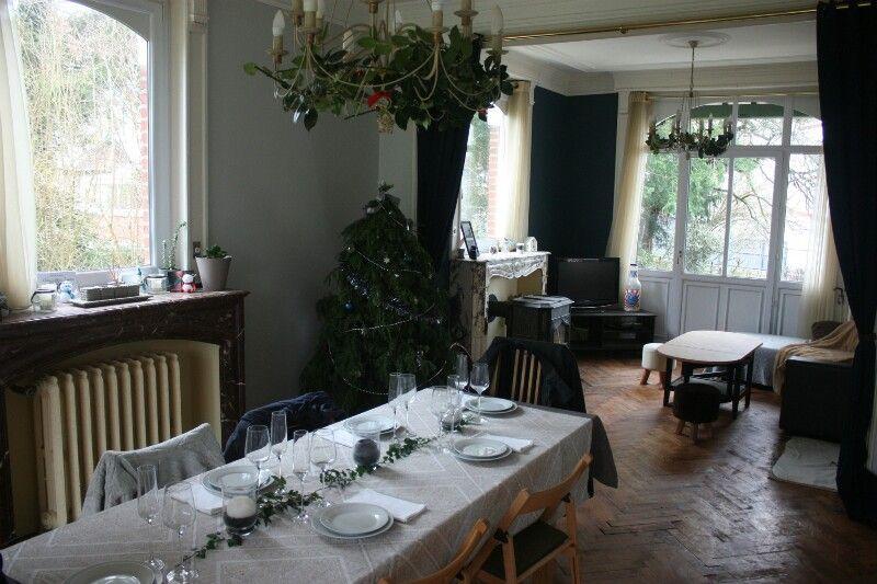 Salon et salle à manger  parquet en chêne massif, cheminées de - Salle A Manger Parquet