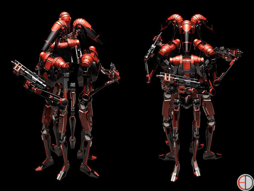 Dark Battle Droid - 3 by mech7 on DeviantArt