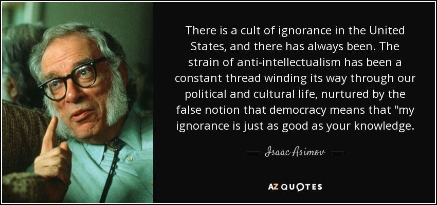 Image result for asimov opinion knowledge