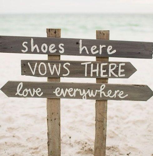 18 DIY Beach Wedding Ideas on a Budget Driftwood signs Beach