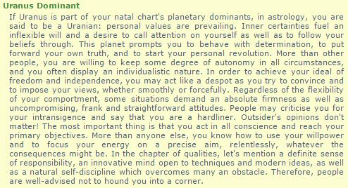 URANUS dominant: