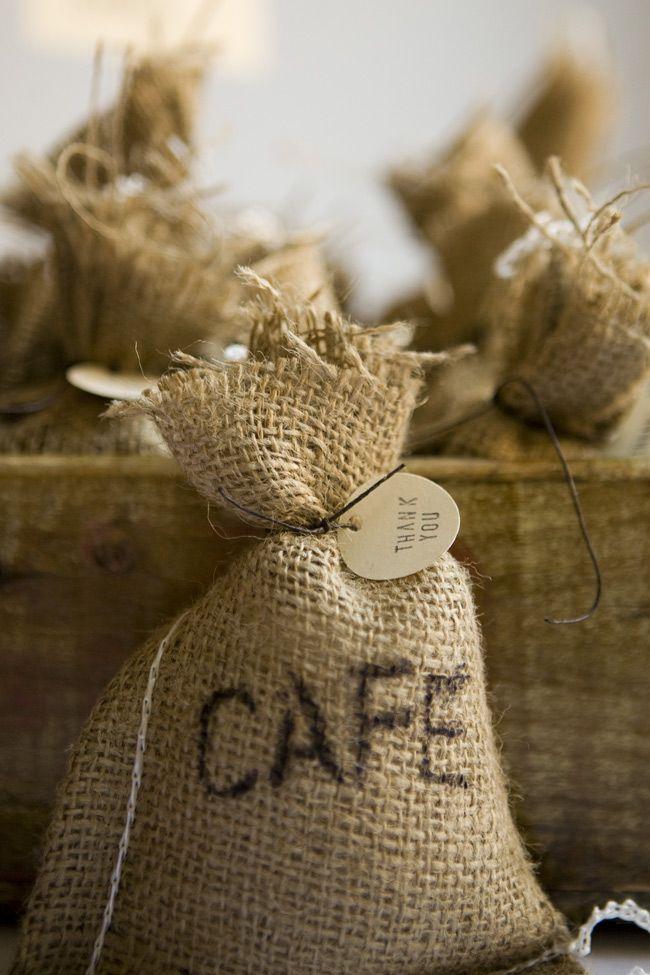 DIY Coffee Bag Favors