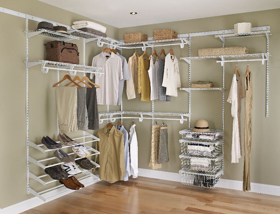 Closetmaid White Wire Closet For Master And The Kids Kid Shoe Rack Drawers