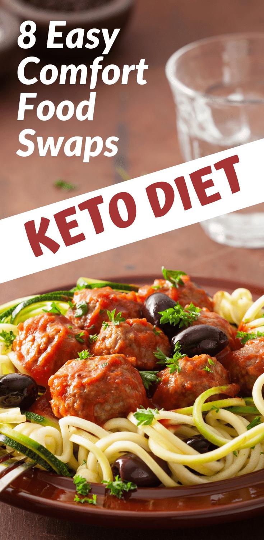 Keto Diet for Beginners: 8 Comfort Food Swaps  #keto #lowcarb #comfortfood #recipes #ketodiet #bread #pizza #ketorecipesforbeginners