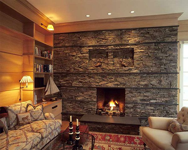 fireplace ideas contempary stone tile fireplace 27 30 Stone