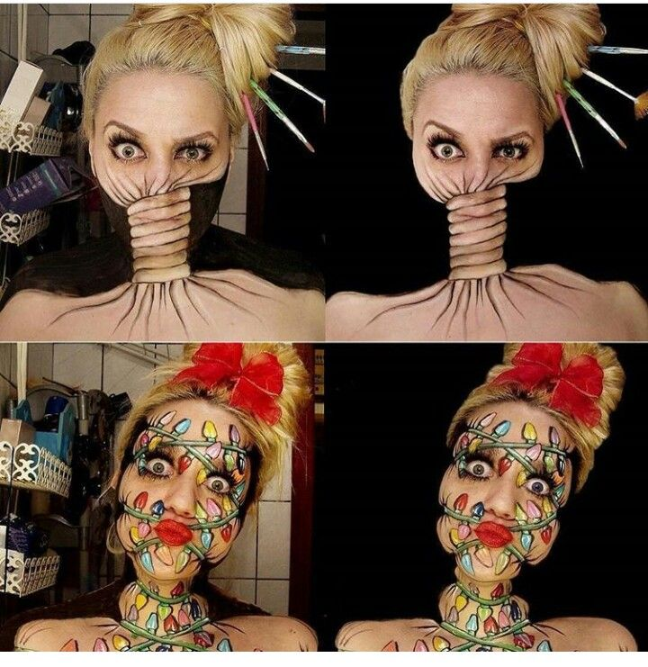 Cool Effects With One Makeup Make Up Pinterest Maquillaje - Maquillaje-profesional-halloween