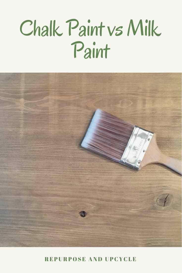 chalk paint vs milk paint