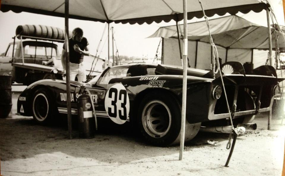 Alfa Tipo 33/3 4litre V8, Fred Gibson, Australian Tourist Trophy, Phillip Island, November 1975 (Bisset)...