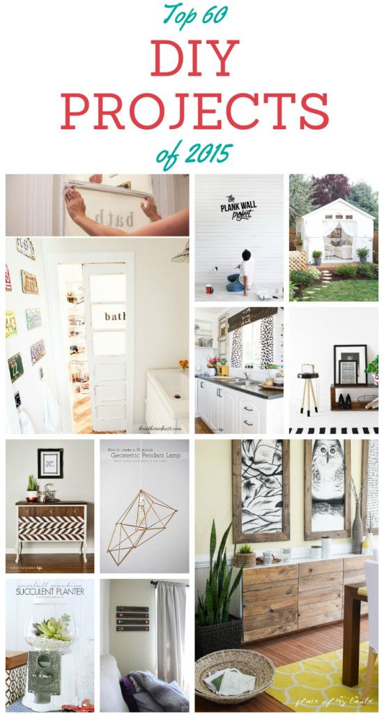 Top 60 Diy Projects Of 2015 With Step By Step Tutorials Home Diy Easy Diy Projects Cool Diy Projects
