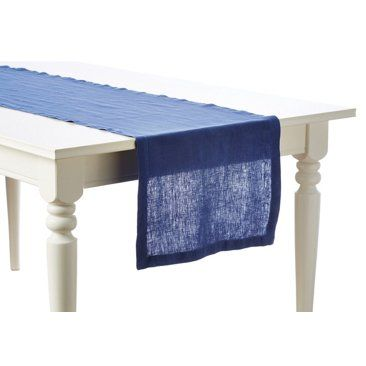 Check out this item at One Kings Lane! Washed-Linen Runner, Riviera