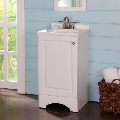 Vanity In White With Ab Engineered Composite Top Gb18p2com Wh At The Home Depot Tablet
