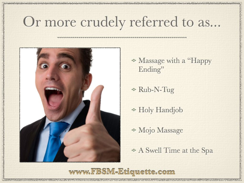 Slang Terms For Sensual Massage Services By Www Fbsm Etiquette Com
