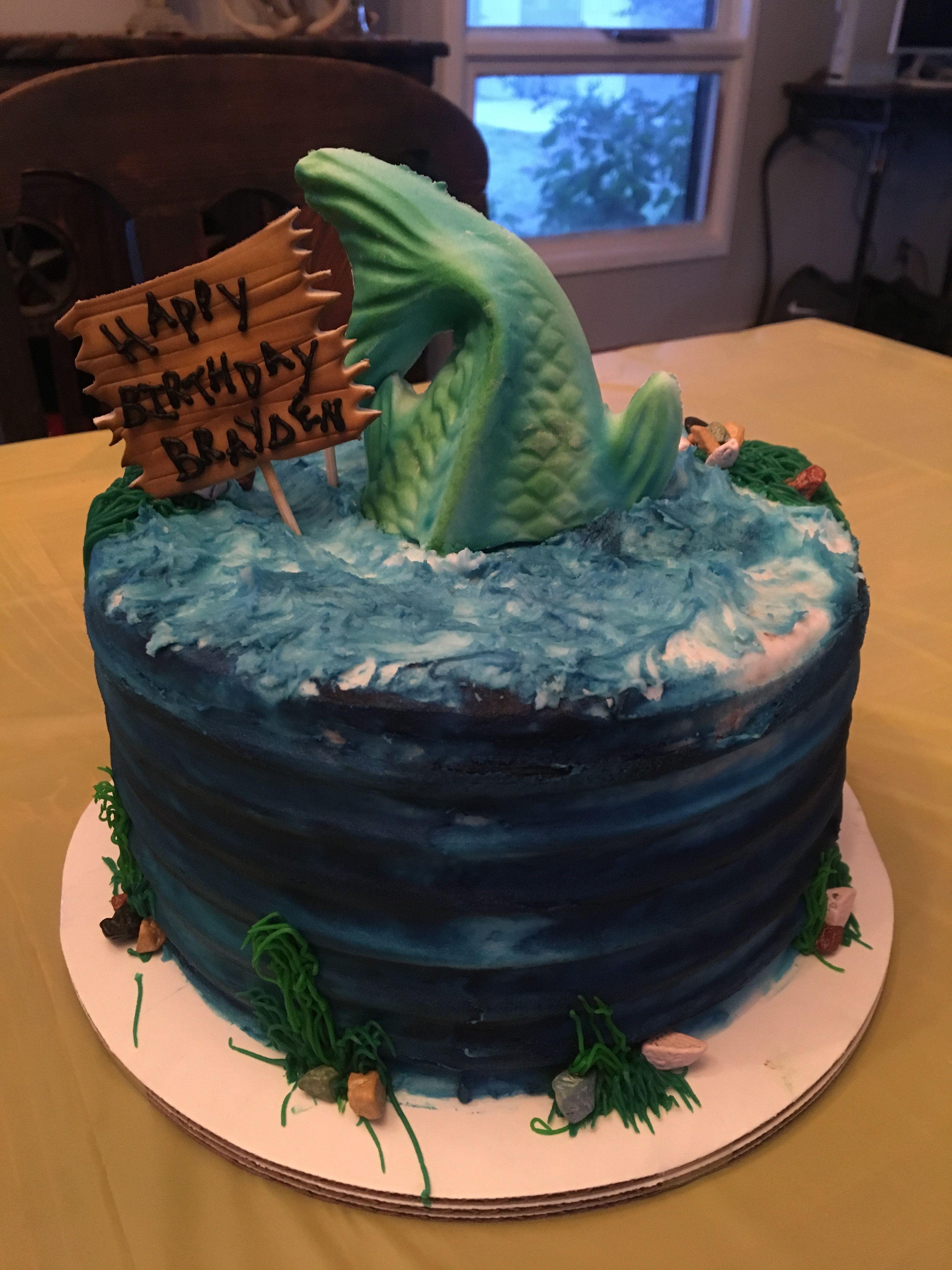 Fishing cake 13th birthday boy with images birthday