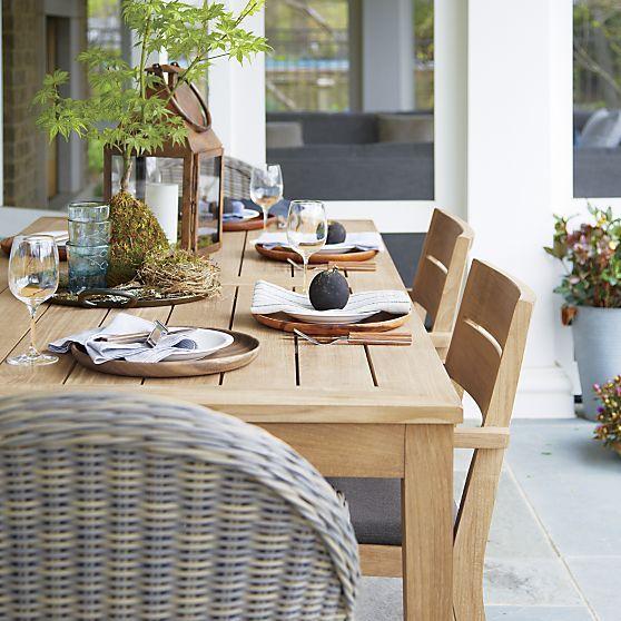 Shop kinney teak outdoor patio dining table. Regatta Rectangular Teak Table + Reviews   Crate and ...