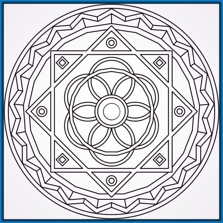 Mandalas faciles de dibujar y bonitas Arte Pinterest Mandala