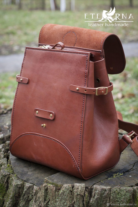 e07d8a3e90fa Рюкзаки ручной работы. Рюкзак женский авторский ручной работы из  натуральной кожи. Изделия из кожи