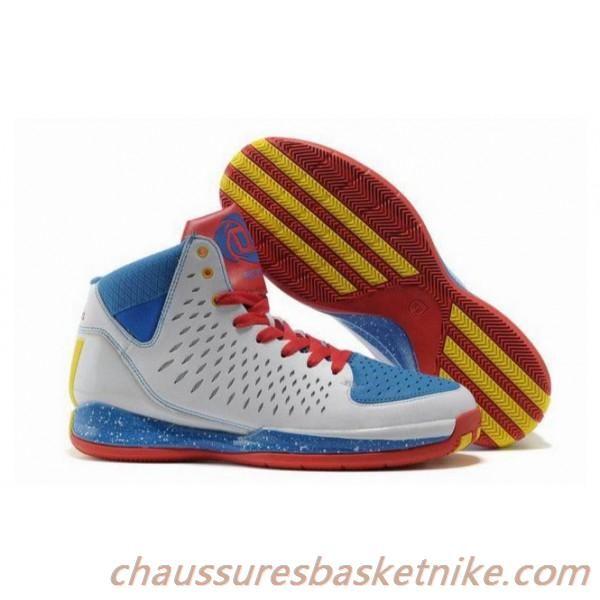 Nouveaux Hommes Adidas Adizero Rose 3.0 Chaussures de basket-Blanc Bleu Jaune Rouge