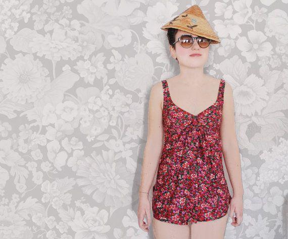 Costume Da Bagno Intero Vintage : Vintage swimsuit never worn piece tankini vintage s mod