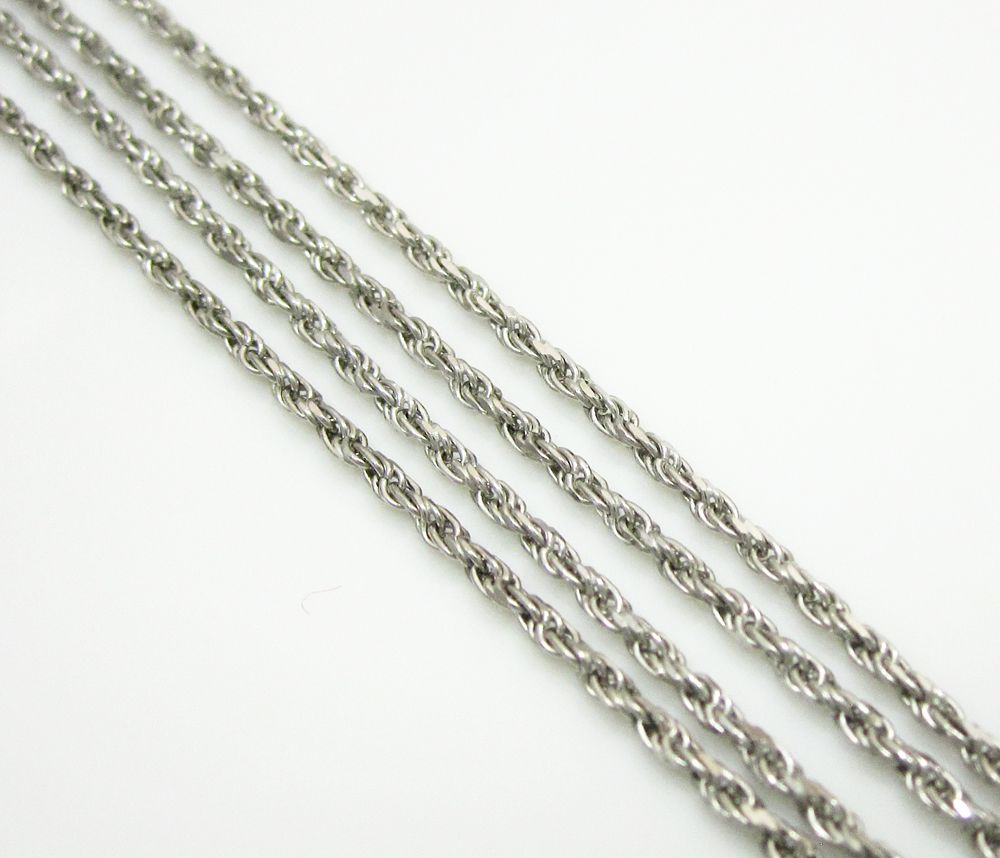 03a3bc99097b9 So Icy Jewelry offers 14K solid white gold rope chain with length ...