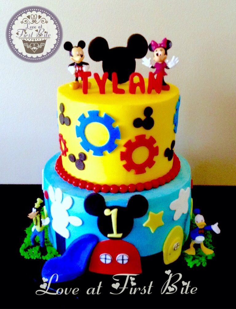 Mickey Mouse Clubhouse Cake By Love At First Bite In Nashville Tn