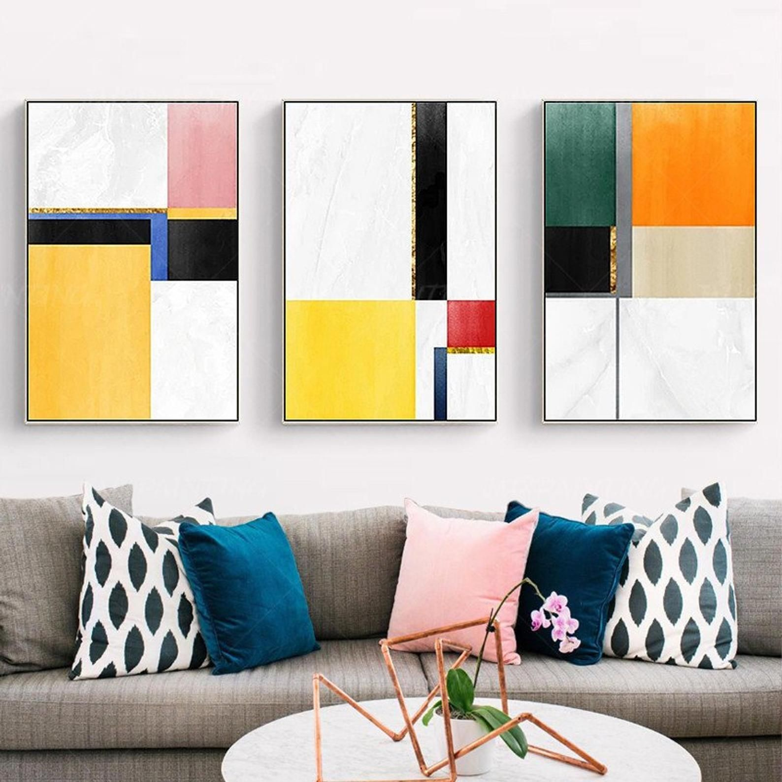 Abstract Wall Art Collage Geometric Art Abstract Painting Abstract Wall Art