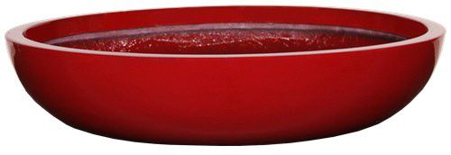 "Many colors 30"" wide and 36"" wide.  PURE SHALLOW BOWL Planter, $175.55 (http://www.awesomeplanters.com/pure-shallow-bowl-planter/)"