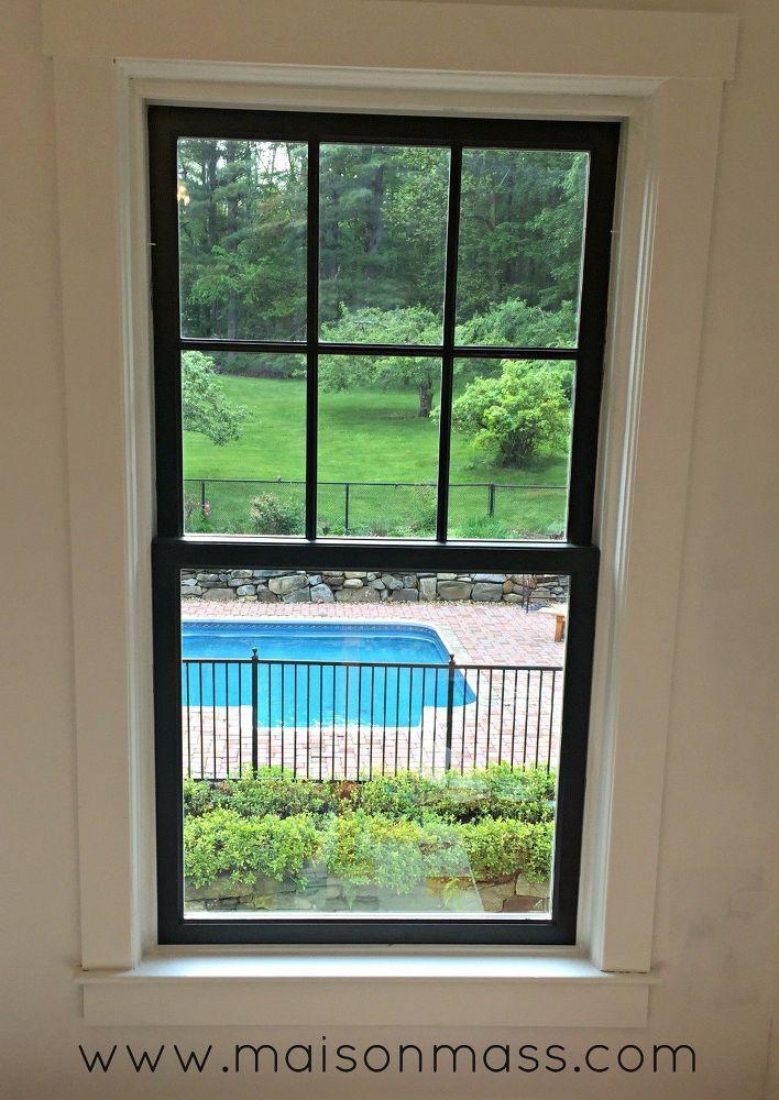 How To Paint Black Windows And Doors Diy Office Makeover Window Trim Exterior Black Window Trims Interior Window Trim