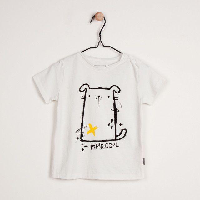 Mr. Cool Cream Stretch Jersey T-Shirt, 6-24 Months Cream // T-shirt crème en jersey extensible, 6-24 mois Souris Mini
