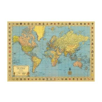 Poster Quot Old Map Quot An Der Wand Wohnen Shabby Style De Posterdrucke Weltkarte