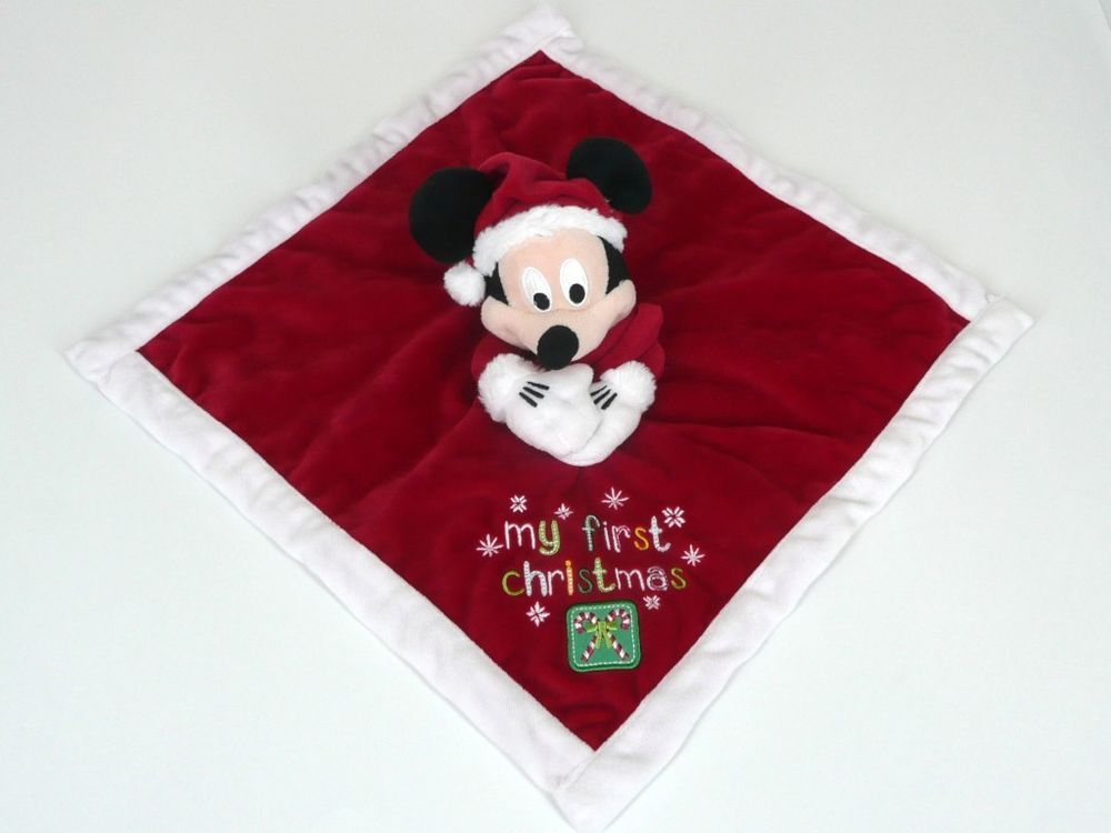 ecdb96c6c DISNEY STORE MY FIRST CHRISTMAS MICKEY MOUSE Santa Blankie Comforter Blanket  #DISNEYSTORE