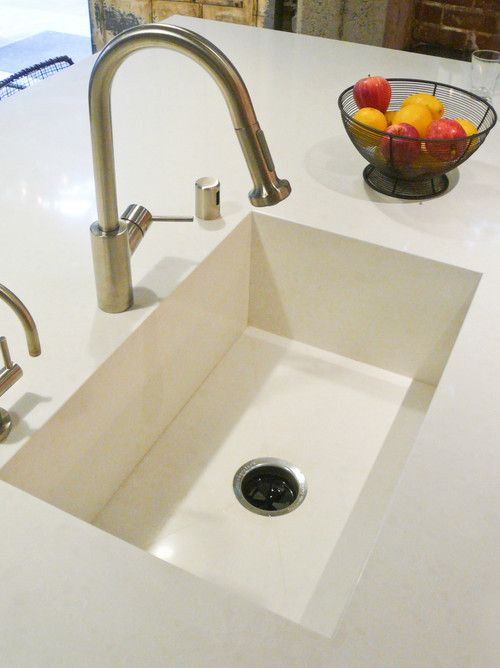 Quartz Integrated Sink Is The Way To Go Love This Kitchen