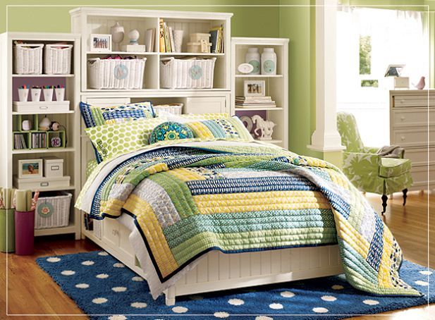 Analogous In This Analogous Room The Hues Blues Greens Yellows. Yellow And Blue  Bedroom ...