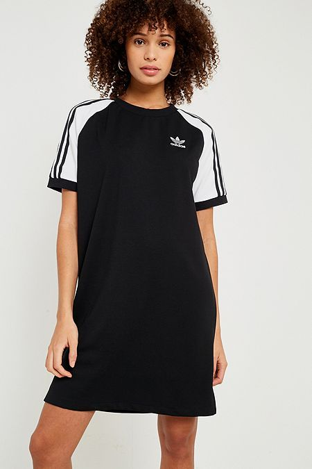 adidas Originals 3 Stripes Dress | Svart | Klänningar