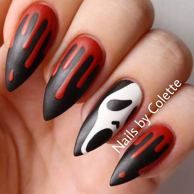 27 Cute And Creepy Halloween Nail Designs 2019