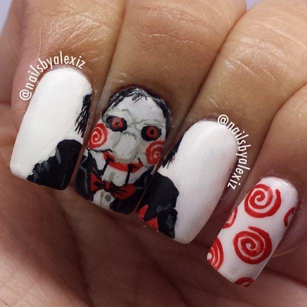 Nail Art Terdekat Dari Sini: Halloween Saw By Nailsbyalexiz #nail #nails #nailart