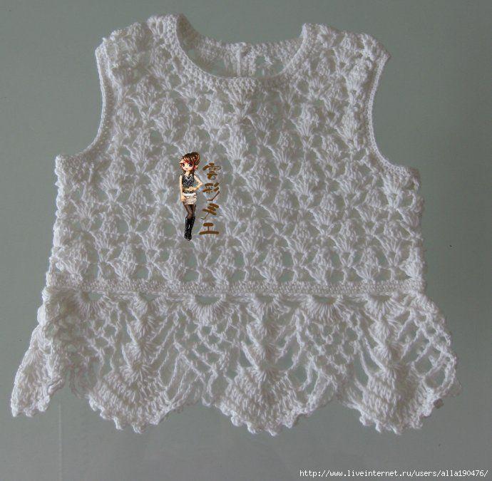 2f379e0ebb AS RECEITAS DE CROCHÊ  Blusa de croche para menina