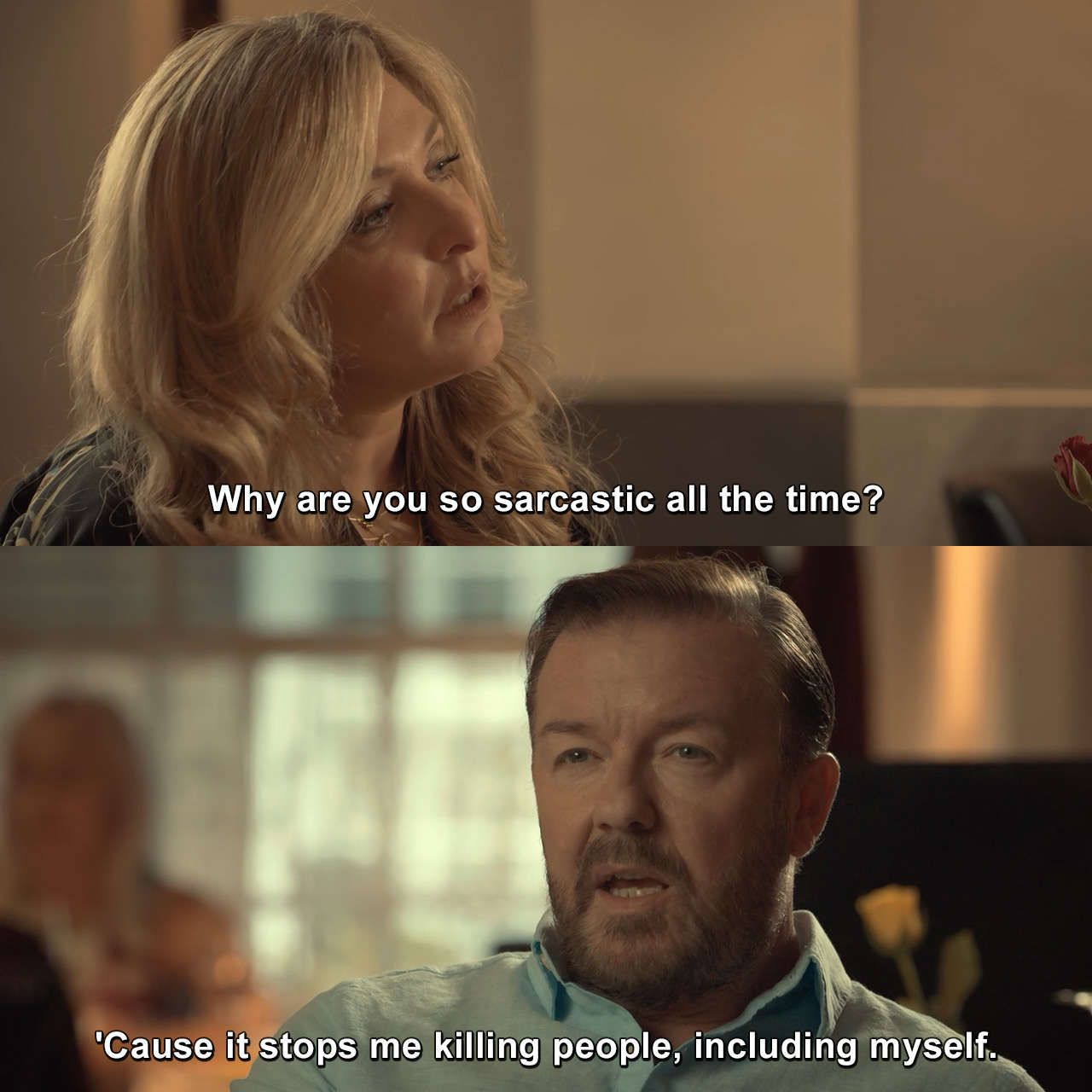 After Life Episode 4 Afterlife Episode4 Rickygervais Joke Lmao Tv Show Quotes I Kill People Netflix Quotes