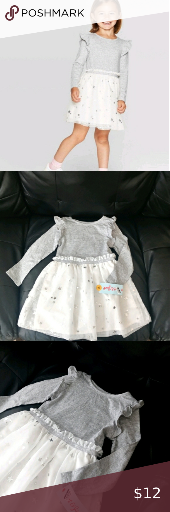 Cat Jack Toddler Girls Tutu Dress Wd2 This Cute Toddler Gray White And Silver Tutu Dress Is Brand New Girls Knitted Dress Girls Tutu Dresses Tutus For Girls [ 1740 x 580 Pixel ]
