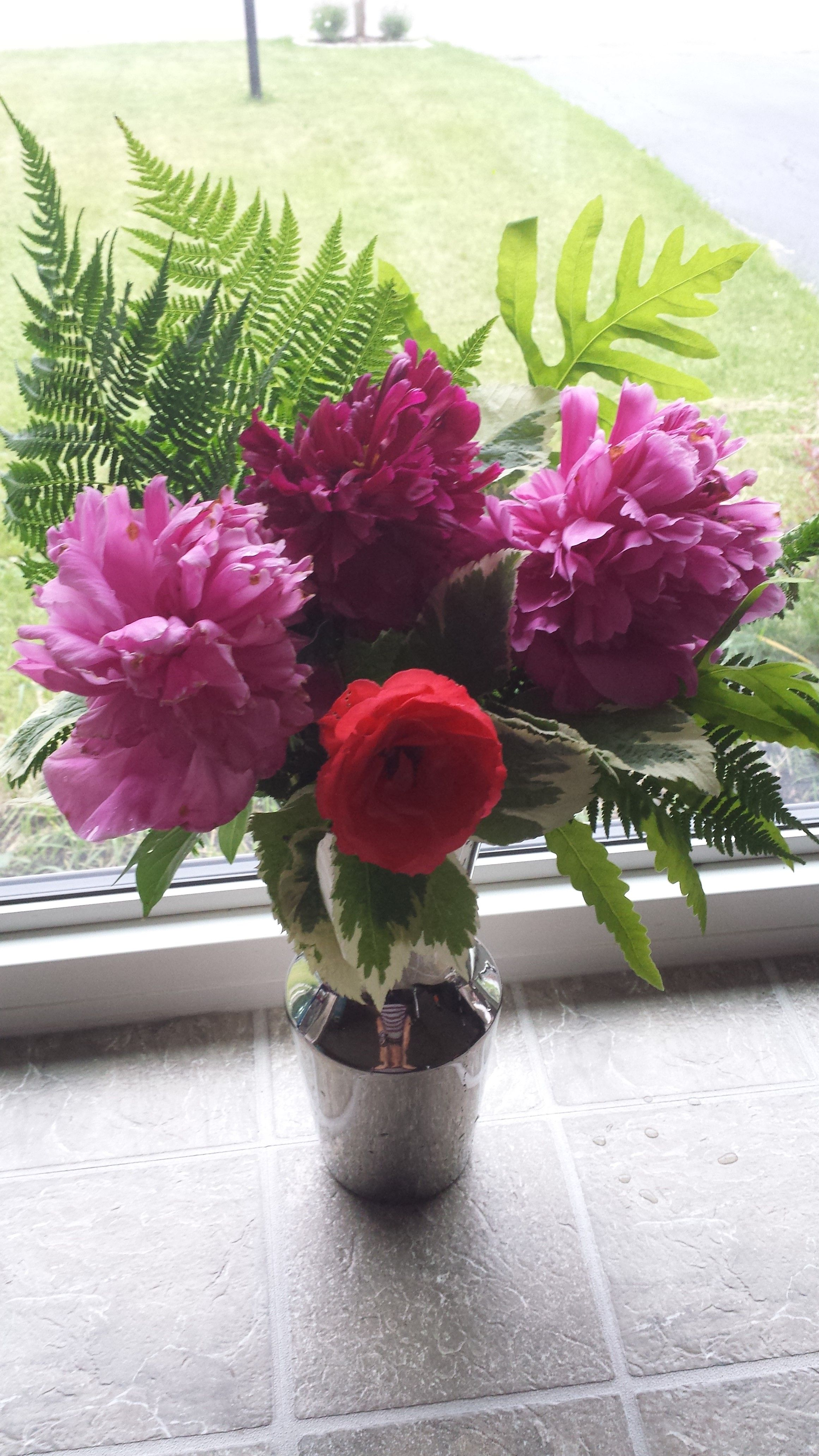 Peony and Fern Bouquet