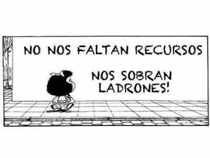 Image result for chiste corrupcion viñeta  mafalda